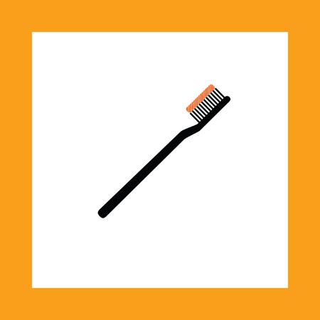 pasta de dientes: cepillo de dientes del icono del vector