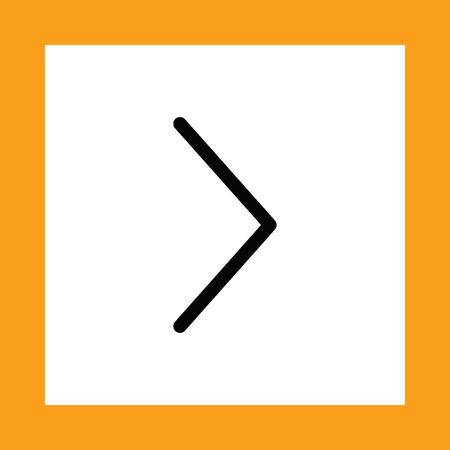 flecha derecha: flecha a la derecha del icono del vector Vectores