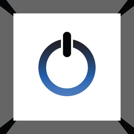 Log Out: power button vector icon