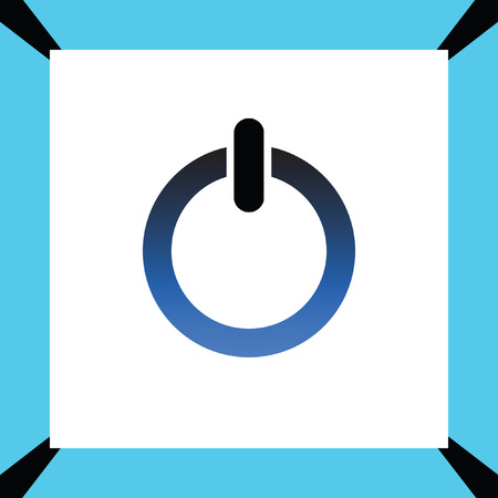 log off: power button vector icon