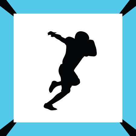scramble: american football player Illustration