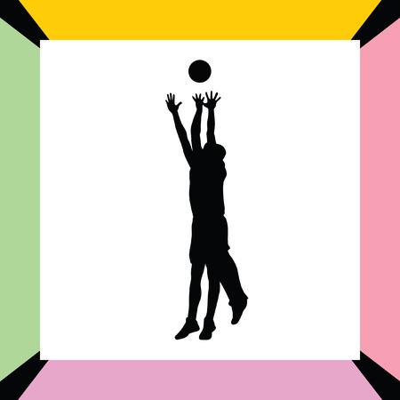 basketball player Stock Vector - 66424644