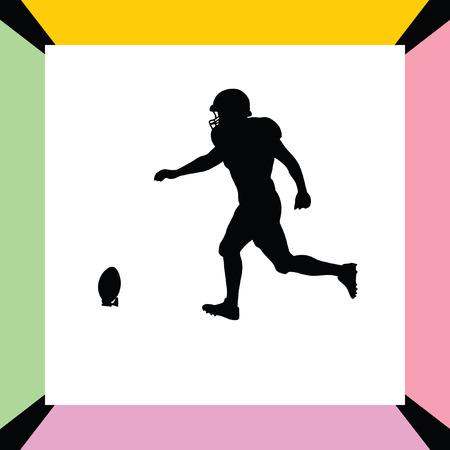 american football helmet collection: american football player Illustration