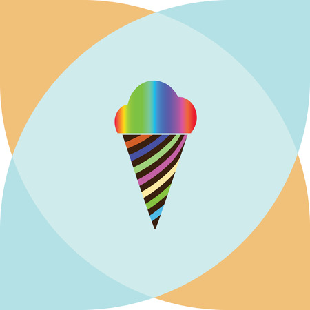 tenderness: ice cream vector icon