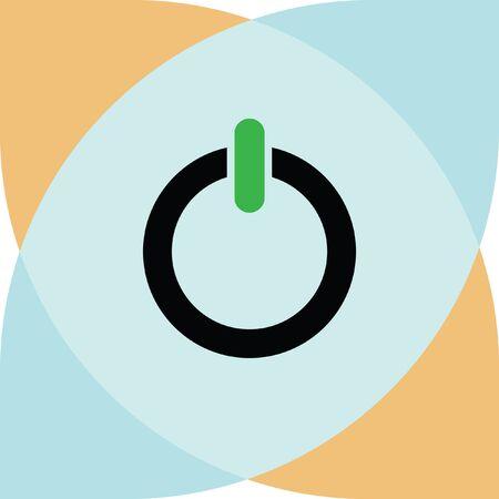 shut off: power button vector icon