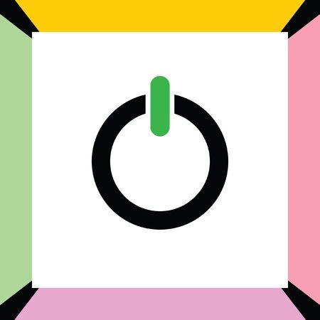 log off: power button vector icon