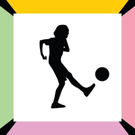 kid play soccer Illustration