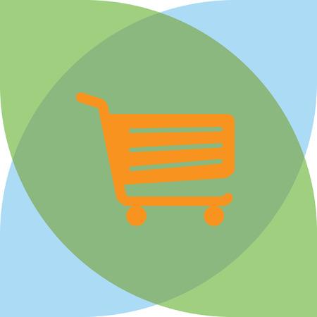 Shopping cart sign Illustration
