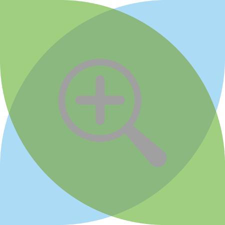 magnifier: Magnifier icon Illustration