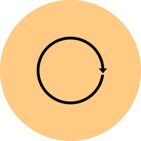 rotation: rotation arrow Illustration
