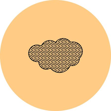 overcast: rain cloud vector icon Illustration