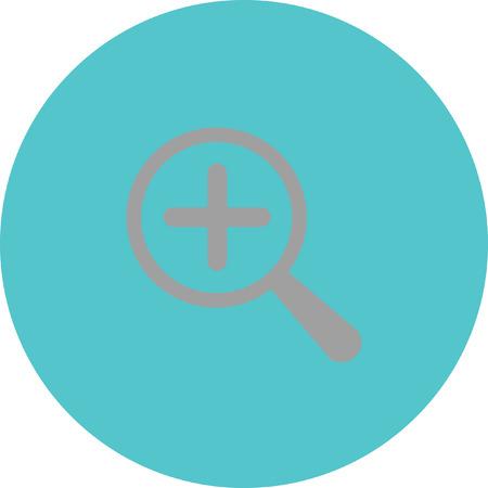 Magnifier icon Illustration