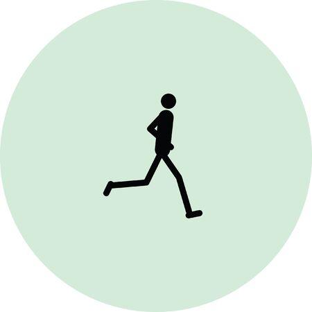 jog: runner vector icon Illustration