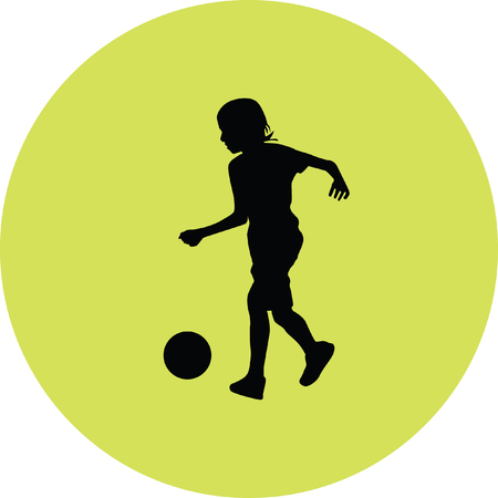 kid play soccer Illustration