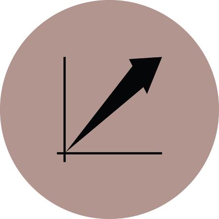 increase: Bar chart increase sign