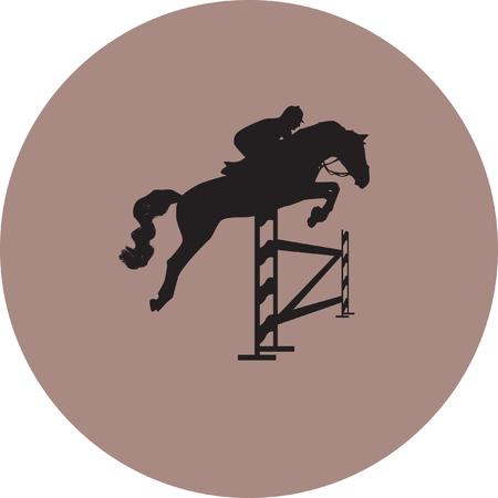 jockey and horse Illustration