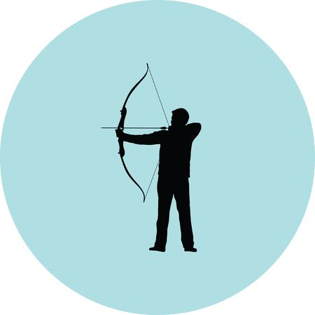 archer bow arrow Illustration