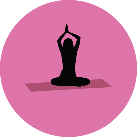 yoga exercise silhouette Illustration