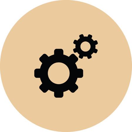 spinning: setting web internet icon Illustration