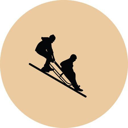 snowy hill: sledding