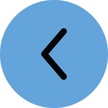 left arrow vector icon