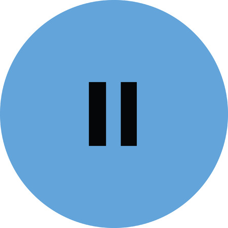 pause: pause vector icon button
