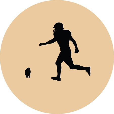 receiver: american football player Illustration