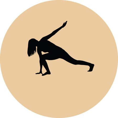 recreational: yoga exercise silhouette Illustration