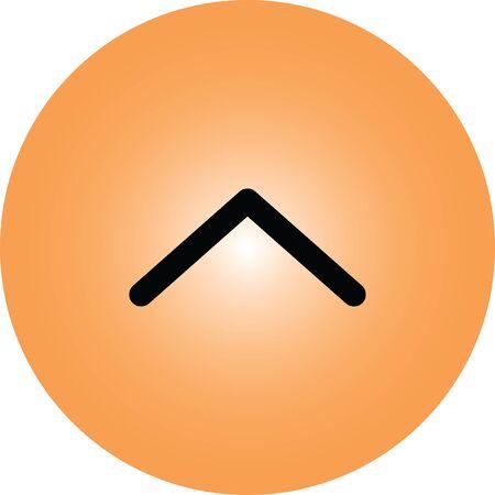 up arrow vector icon Illustration