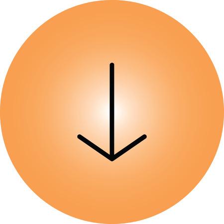 next icon: down arrow icon