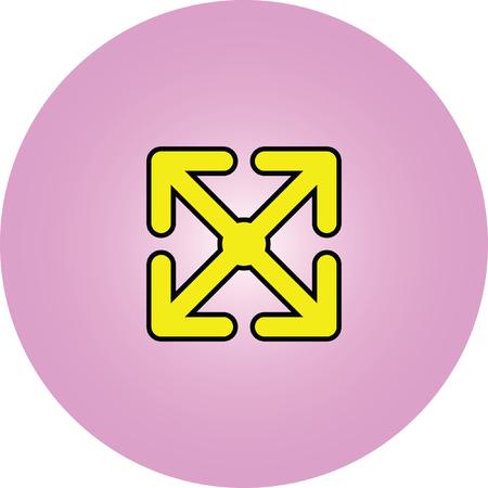 arrow move vector icon