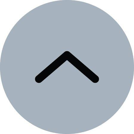 redo: up arrow vector icon Illustration