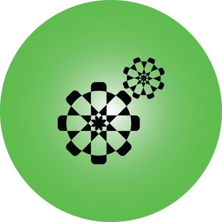 setting web internet icon Illustration