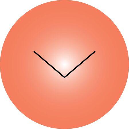 redo: down open arrow vector icon Illustration