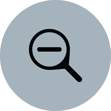 Magnifier icon Illustration