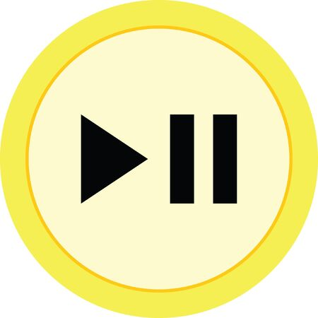 play pause button Illustration