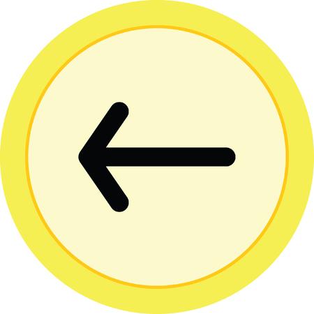 left: arrow left Illustration