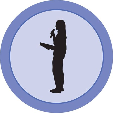 television presenter Illustration