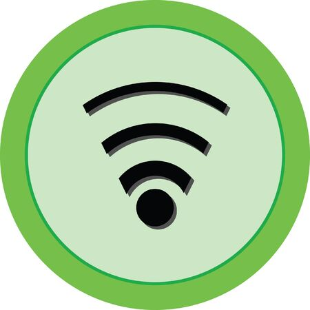 cast: wifi vector icon