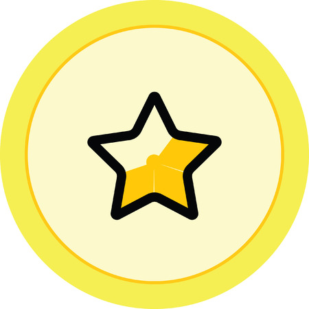 excellence: gold star favorite icon