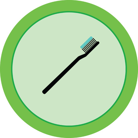 toothbrush vector icon Illustration