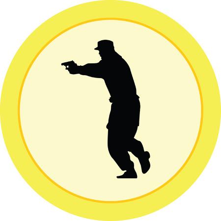 policeman with a gun