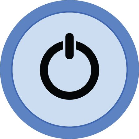 toggle switch: power button vector icon