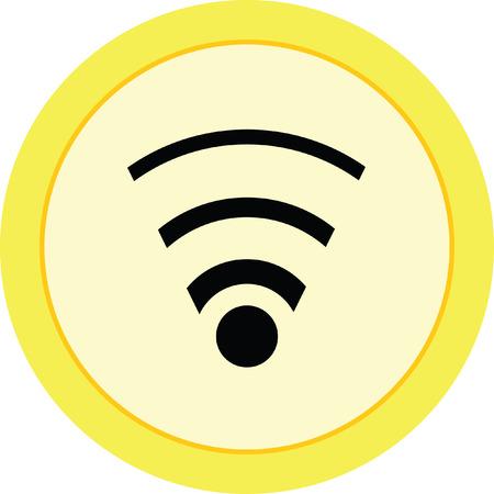 pod cast: wifi vector icon