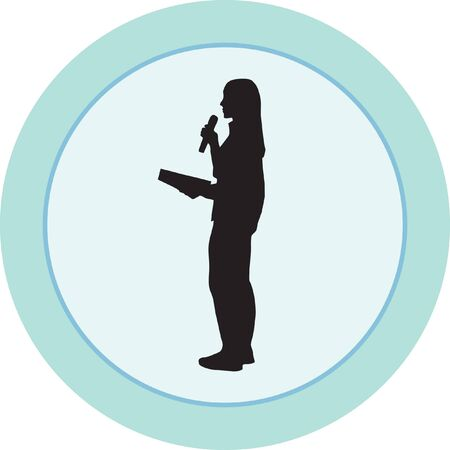 presenter: television presenter Illustration