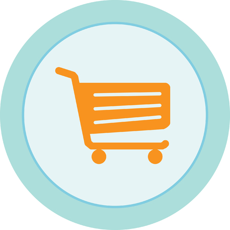 Shopping cart sign Vectores