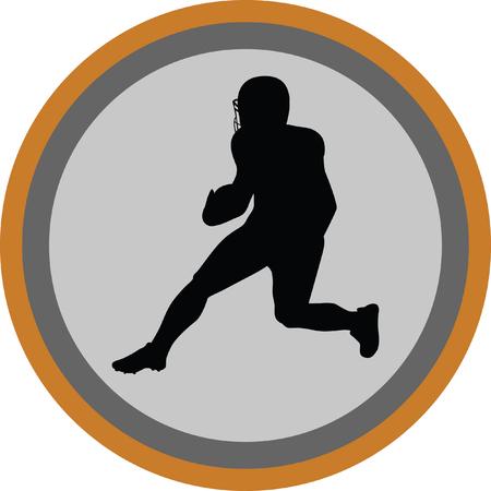 American football player Illustration