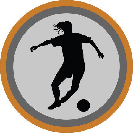 arquero de futbol: mujer jugador de fútbol
