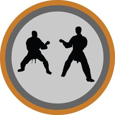 sidekick: Karate silhouette vector
