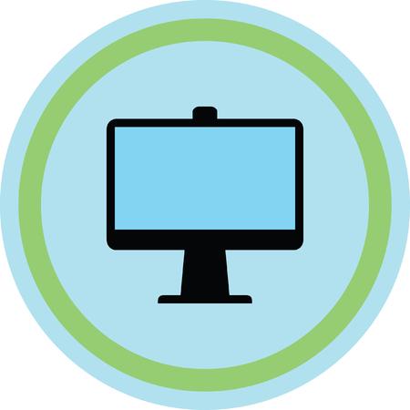 computer screen vector icon Illustration